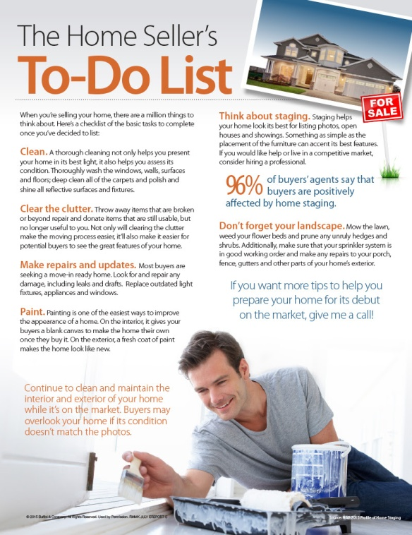 07 15 The Home Sellers To Do List