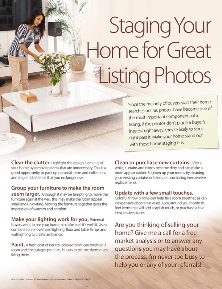 How to Stage Your Home for Photos